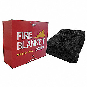 Fire Blanket and Cabinet, Wool