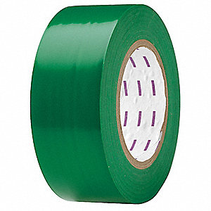 "Safety Warning Tape, Solid, Roll, 2"" x 180 ft., 1 EA"