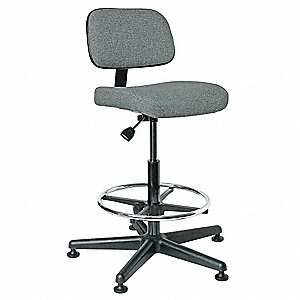 "Gray Fabric Task Chair 10"" Back Height, Arm Style: No Arm"
