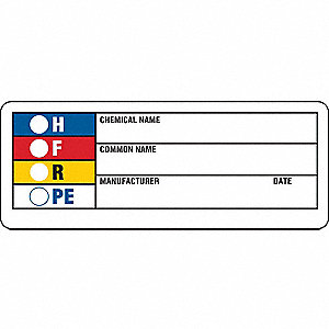 HMIG Label,1-1/2 In. H,Paper,PK1000