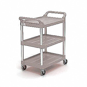 "33-5/8""L x 18-5/8""W Platinum Utility Cart, 200 lb. Load Capacity, Number of Shelves: 3"
