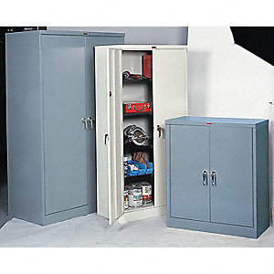 "Storage Cabinet, Gray, 42"" Overall Height"