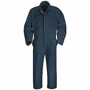 Coverall,Chest 52In.,Navy