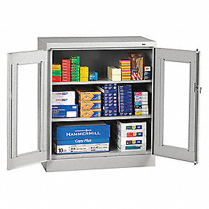 "Shelving Cabinet,42"" H,36"" W,Light Gray"