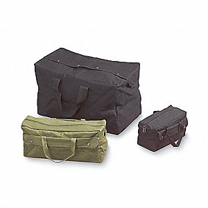 Canvas Tool Bag, General Purpose, Number of Pockets: 2, Black