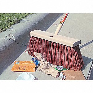 "Natural Push Broom, 16"" Sweep Face"