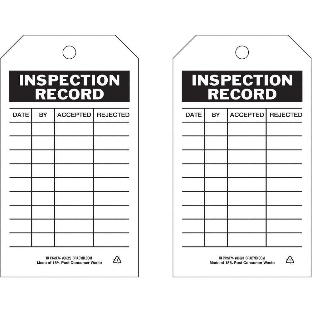 Inspection Record Tag, Inspection Record, 7
