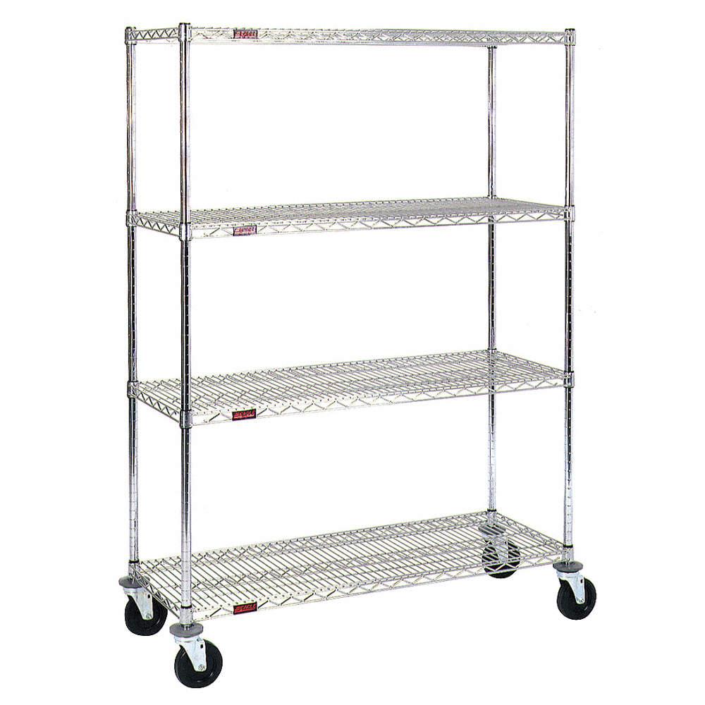 EAGLE GROUP Wire Shelving Cart,800 lb.,Zinc - 9E657|CC1848Z4-74SR ...