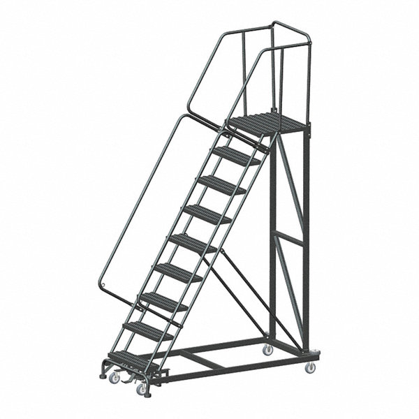 Ballymore 9 Step Safety Rolling Ladder Serrated Step