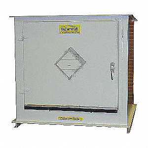 "68"" x 36"" x 64"" Steel Outdoor Storage Locker with 2 hr. Fire Rating, White"