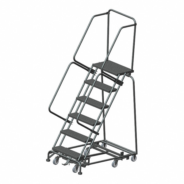 Ballymore 6 Step Rolling Ladder Perforated Step Tread 93