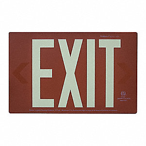 Exit Sign Face,8-1/2 x 13-5/8,Red,Alum