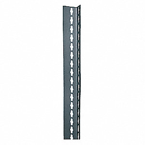 "2"" x 1"" x 84"" Steel Shelving Post, Gray&#x3b; PK1"