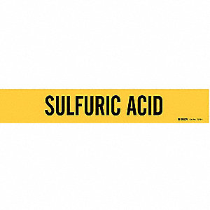 Pipe Markr,Sulfuric Acid,2-1/2to7-7/8 In