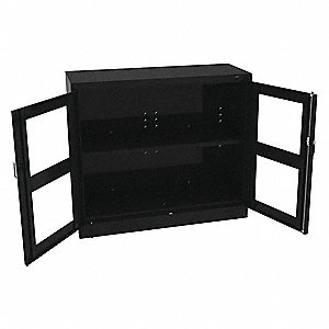 "Commercial Storage Cabinet, Black, 42"" H X 48"" W X 18"" D, Assembled"