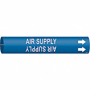 Pipe Marker,Air Supply,Bl,3/4 to1-3/8 In