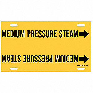 Pipe Mrkr,Medium Pressure Steam,6to7-7/8