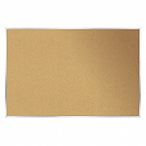 "Push-Pin Bulletin Board, Cork, 48-1/2""H x 96-1/2""W, Natural"