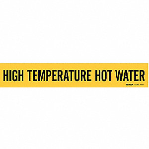Pipe Marker,High Temperature Hot Water,Y