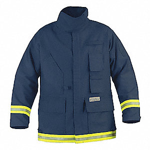 Extrication Jacket,Navy,S,Indura Cotton