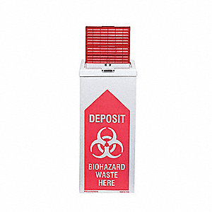 Biohazard Burn Box,27 In. H,PK6