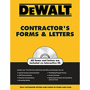 DEWALT Contractor's Forms and Letters