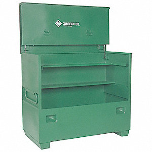 "48"" x 30"" x 60"" Jobsite Chest, 50 cu. ft., Green"