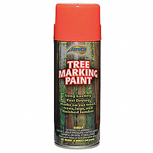 Solvent-Base Tree Marking Paint, Fluorescent Red-Orange, 16 oz.