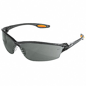 Law® 2 Scratch-Resistant Safety Glasses, Gray Lens Color