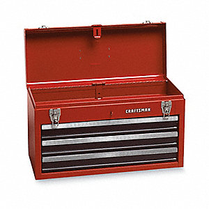 "Portable Tool Chest, Steel, 20-1/2"" Overall Width x 8-1/2"" Overall Depth"