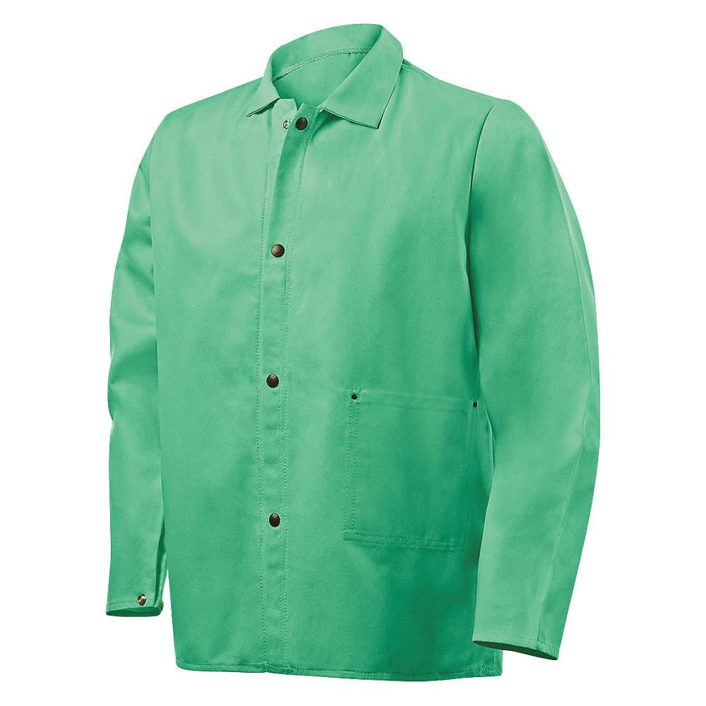 Green L Flame Resistant Jacket Cotton