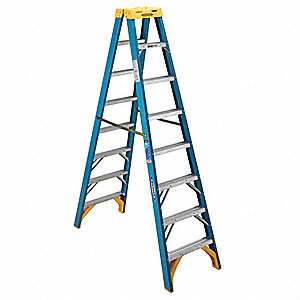 8 ft. 250 lb. Load Capacity Fiberglass Twin Stepladder