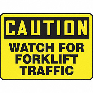 Caution Sign,7x10In,Blk/Ylw,Plastic