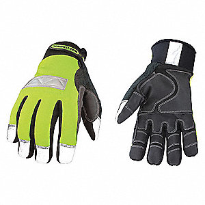 Cold Protection Gloves,M,Hi Vis Green,PR