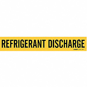 Pipe Marker, Refrigerant Discharge, Yellow