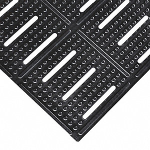 Drainage Runner, Black, 60 ft. x 2 ft., Nitrile Rubber, 1 EA