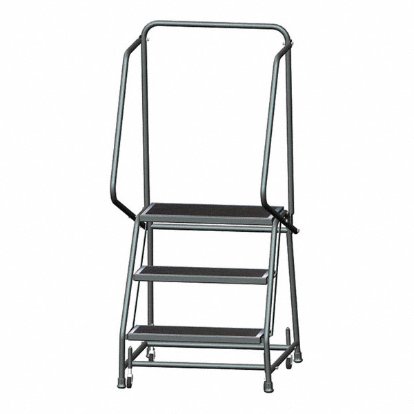 Ballymore 3 Step Rolling Ladder Abrasive Mat Step Tread
