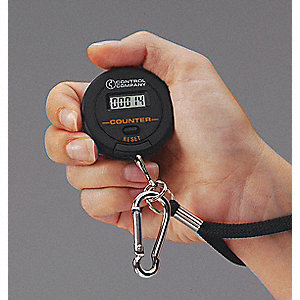 Digital Tally Counter, Black, Number of Digits: 5, Hand Held Mounting