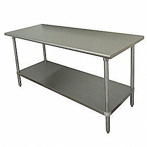 "Work Table, 60"" Width, 36"" Depth  Stainless Steel Work Surface Material"
