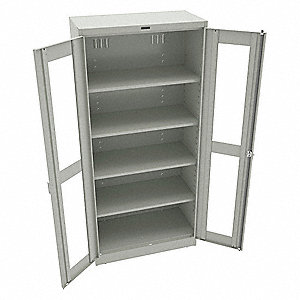 "Storage Cabinet, Light Gray, 78"" Overall Height, Assembled"