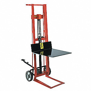 Stacker Hand Truck, Single Grip, 750 lb. Overall Height 48-1/2""