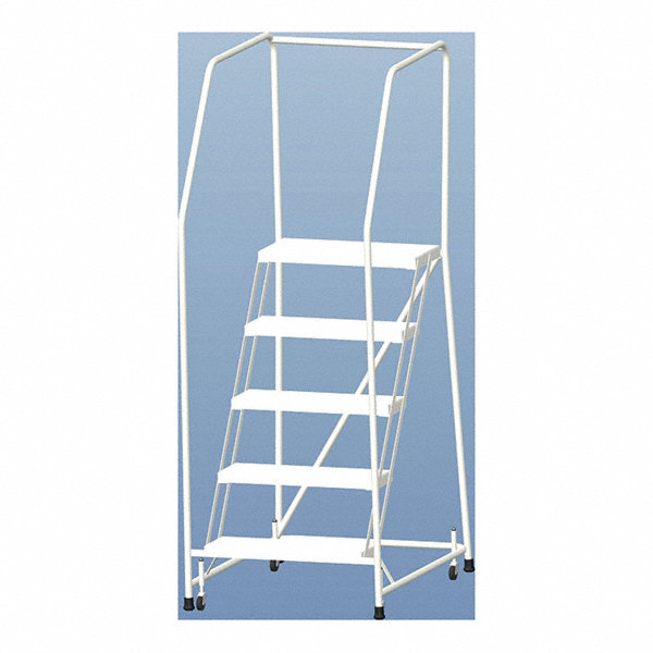 Ballymore 5 Step Rolling Ladder Ribbed Step Tread 77 1 2