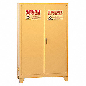 "90 gal. Flammable Cabinet, 69"" x 43"" x 34"", Self-Closing Door Type"