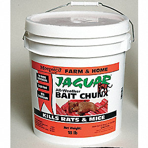 Rodenticide,Red Chunks,18 lb. Pail