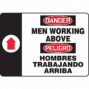 "Spanish-Bilingual Danger Sign,10"" x 14"""