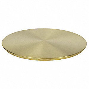 Testing Pan Cover,Brass, 12 In