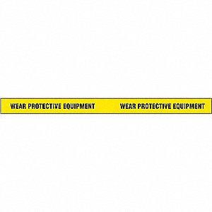 "Safety Warning Tape, Message, Continuous Roll, 2"" Width, 1 EA"