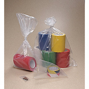 "Open Poly Bag, 4 mil, Clear Low Density Polyethylene (LDPE), Width 6"", Length 8"", 1000 PK"