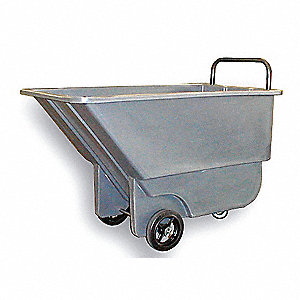 Tilt Truck, 1/4 cu. yd. Volume Capacity, 275 lb. Load Capacity, Light-Duty Hopper Type