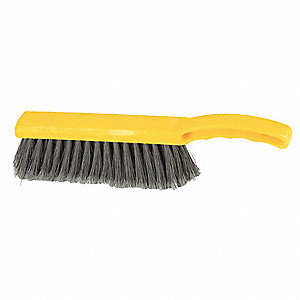 "12-1/2""L Polypropylene Short Handle Bench Brush, Yellow"